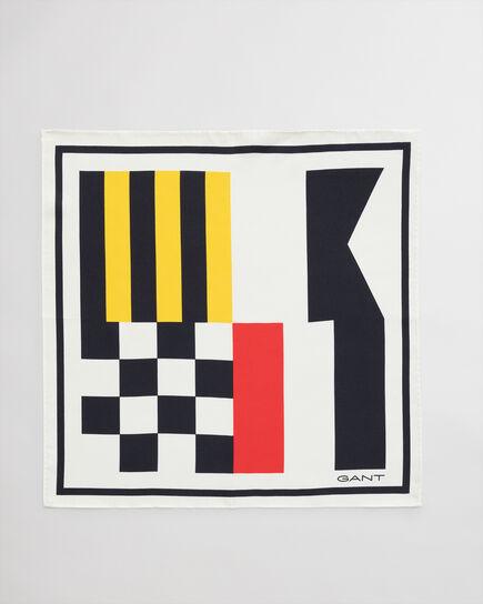 Signal Flag mönstrad sidennäsduk