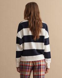 Nautical randig rundhalsad sweatshirt