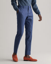 Slim Fit Kostymbyxor i linne med stretch