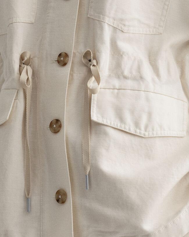 Fältjacka i bomull och linne