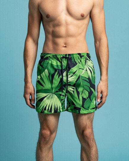 Classic fit Palm Breeze mönstrade badshorts