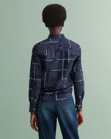 Poplinskjorta med litet paisleymönster