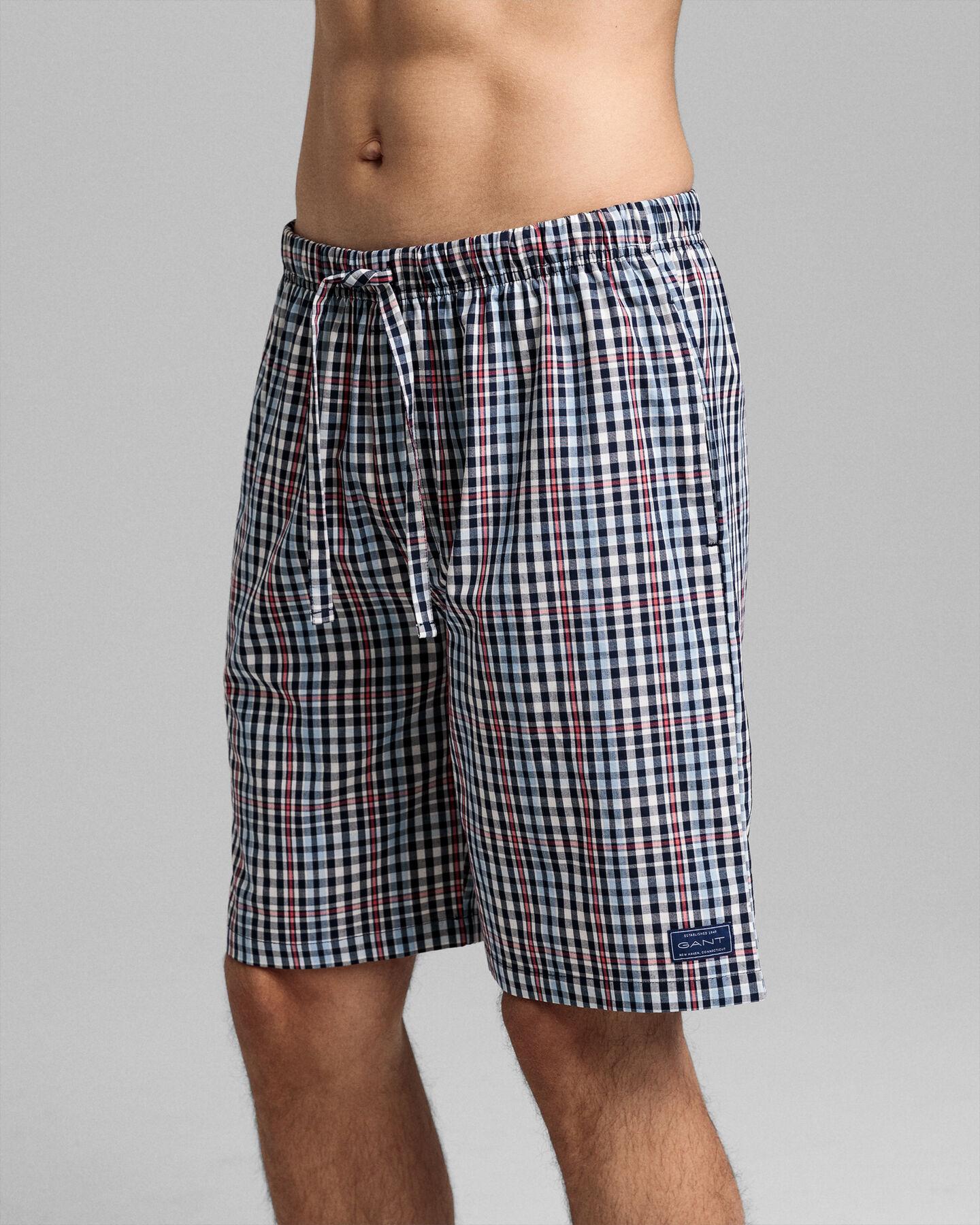 Big Check Pajama Shorts