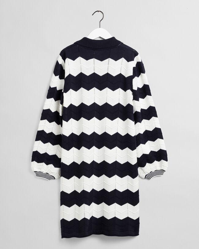 Zigzag stickad klänning