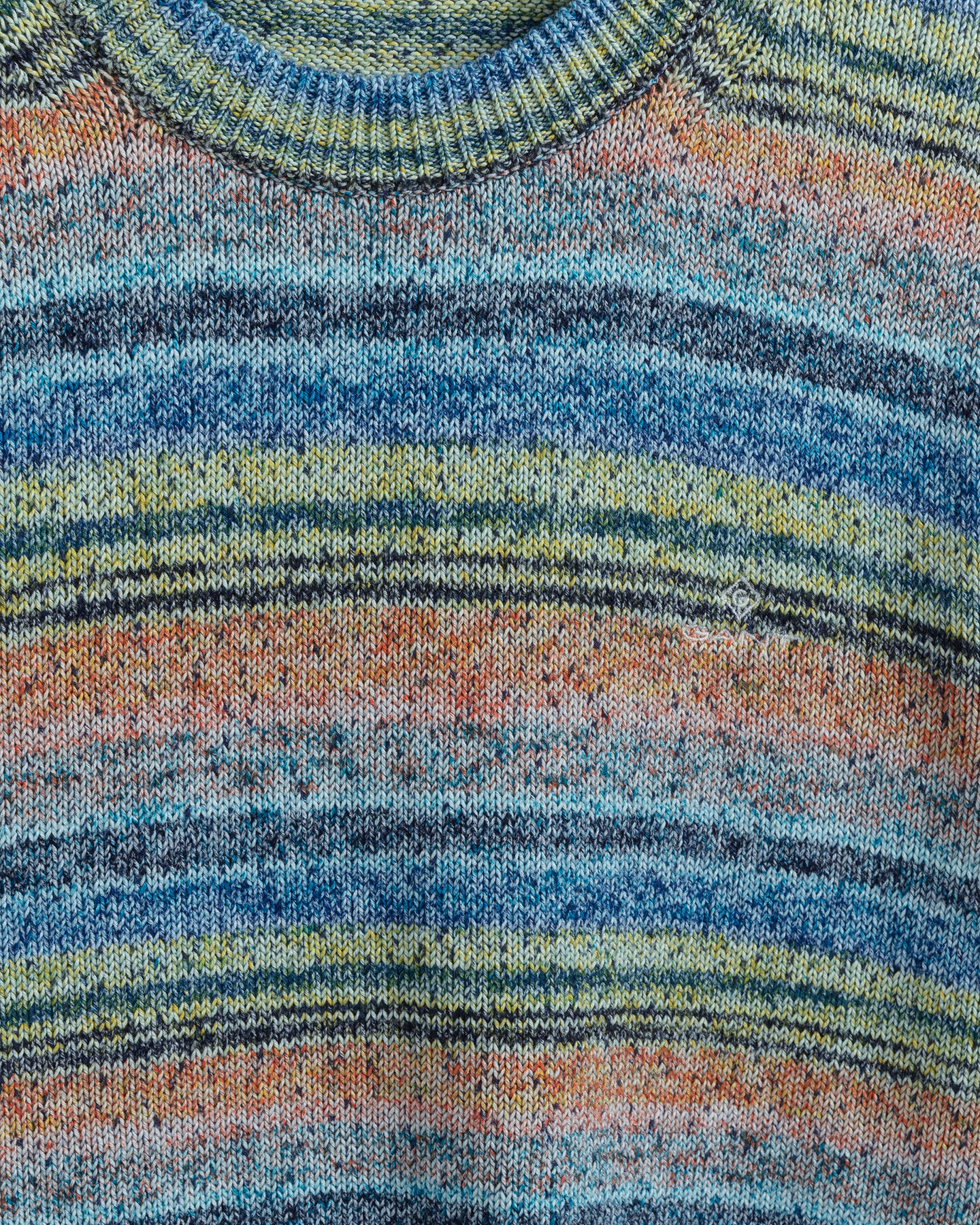 Space-Dyed rundhalsad tröja