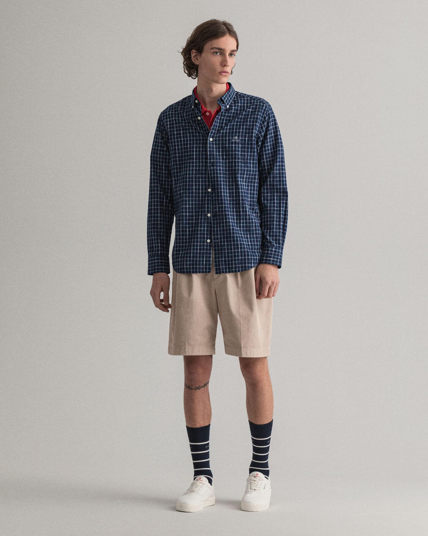 Regular Fit Indigo Space Yarns Shirt