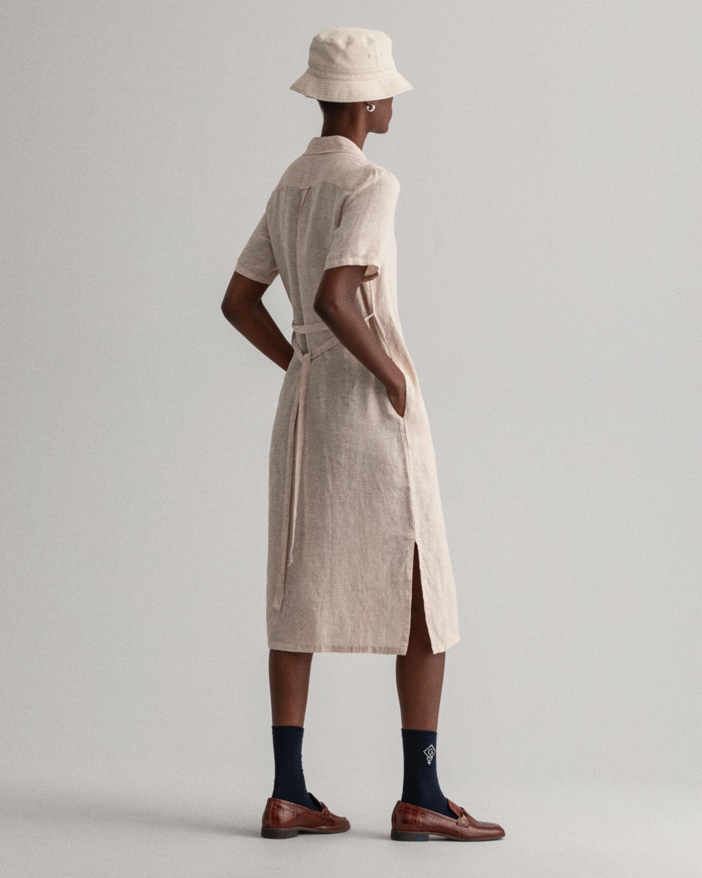 Skjortklänning i linnechambray