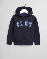 Boys GANT Varsity hoodie med dragkedja