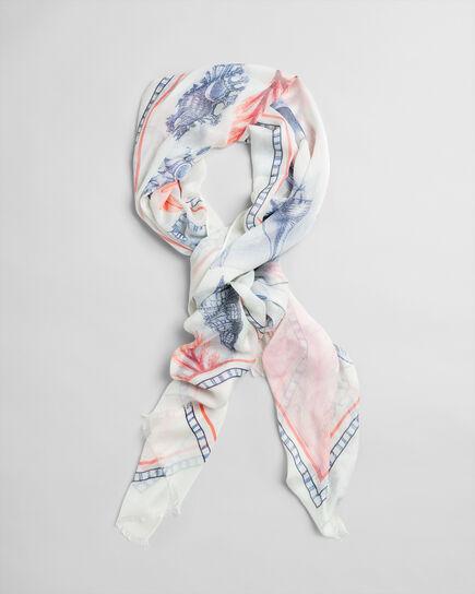 Seashell mönstrad sjal