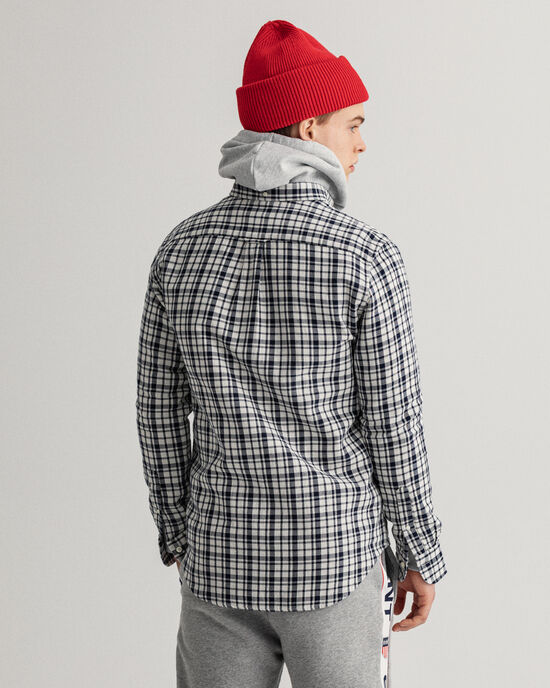 Regular fit dubbelsidig flanellskjorta