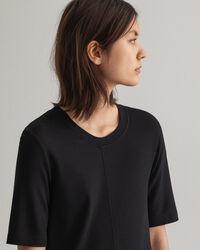 A-linjeformad jerseyklänning