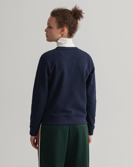 Logo sweatshirt med rund halsringning