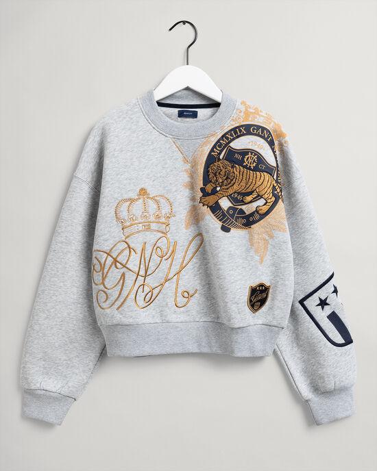 Teen Girls US Royalty sweatshirt med rund halsringning