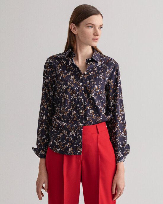 Rose Bud mönstrad skjorta