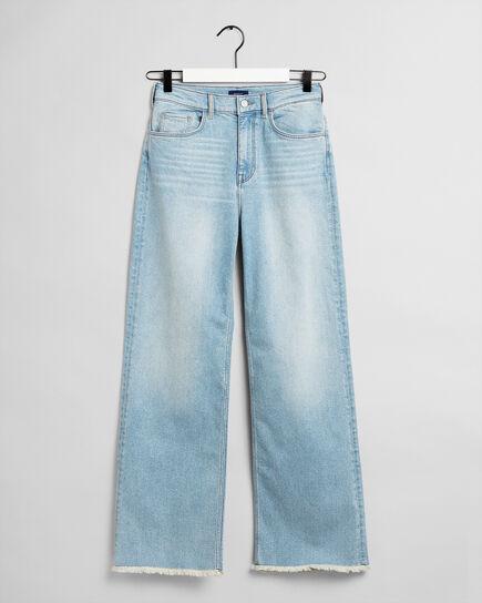 Teen Girls jeans med hög midja och raka ben