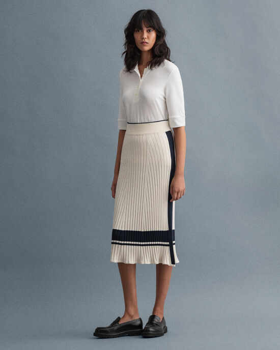Stickad GANT Varsity kjol