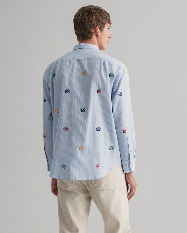 Relaxed fit oxfordskjorta med broderat Crest