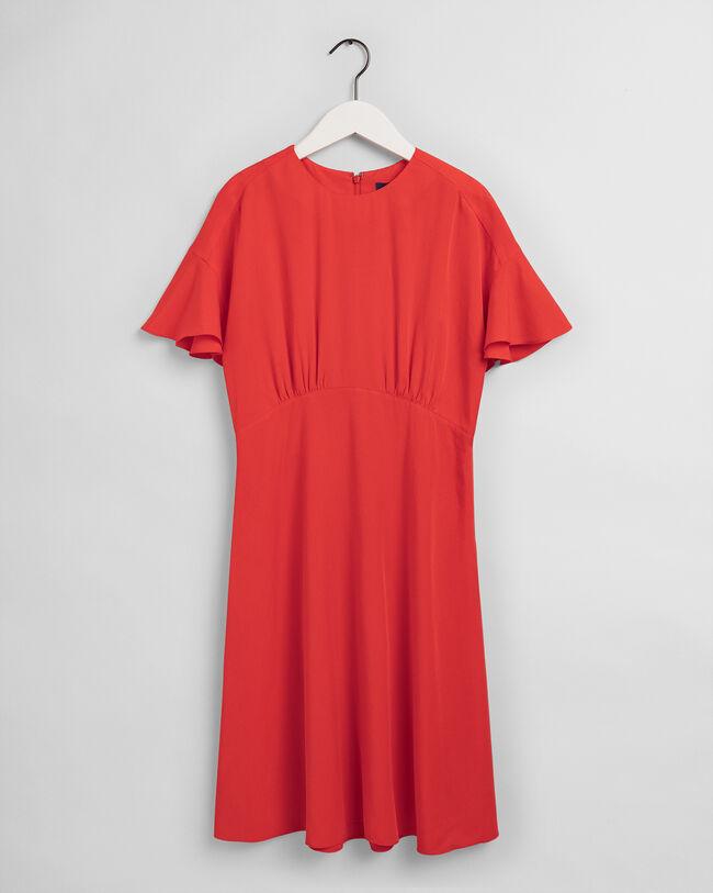 Knälång klänning i twill