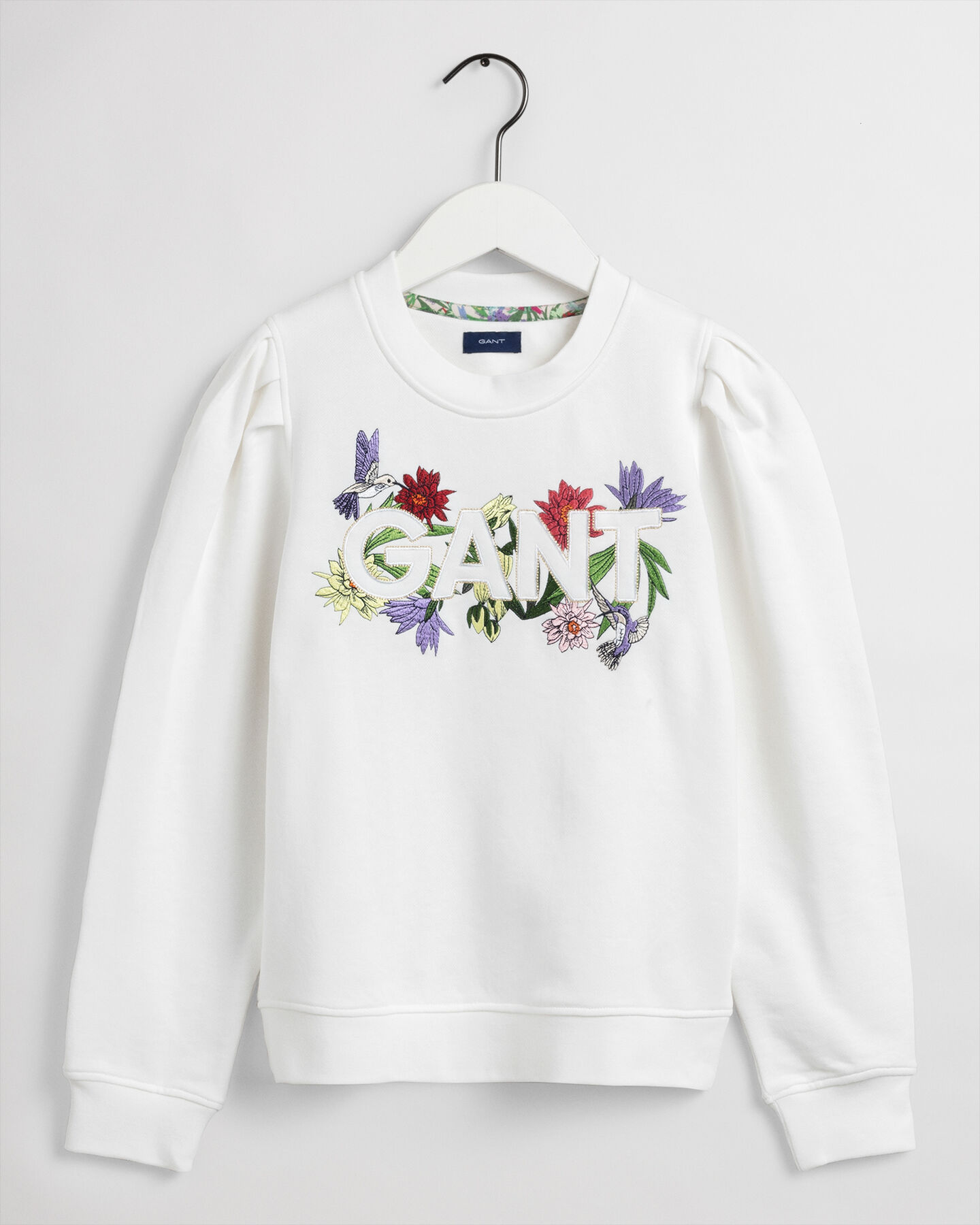Teen Girls Flower Logo sweatshirt med rund halsringning