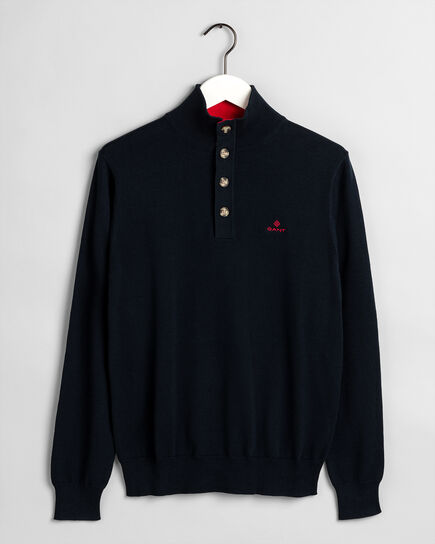 Sporty Mock Neck Sweater