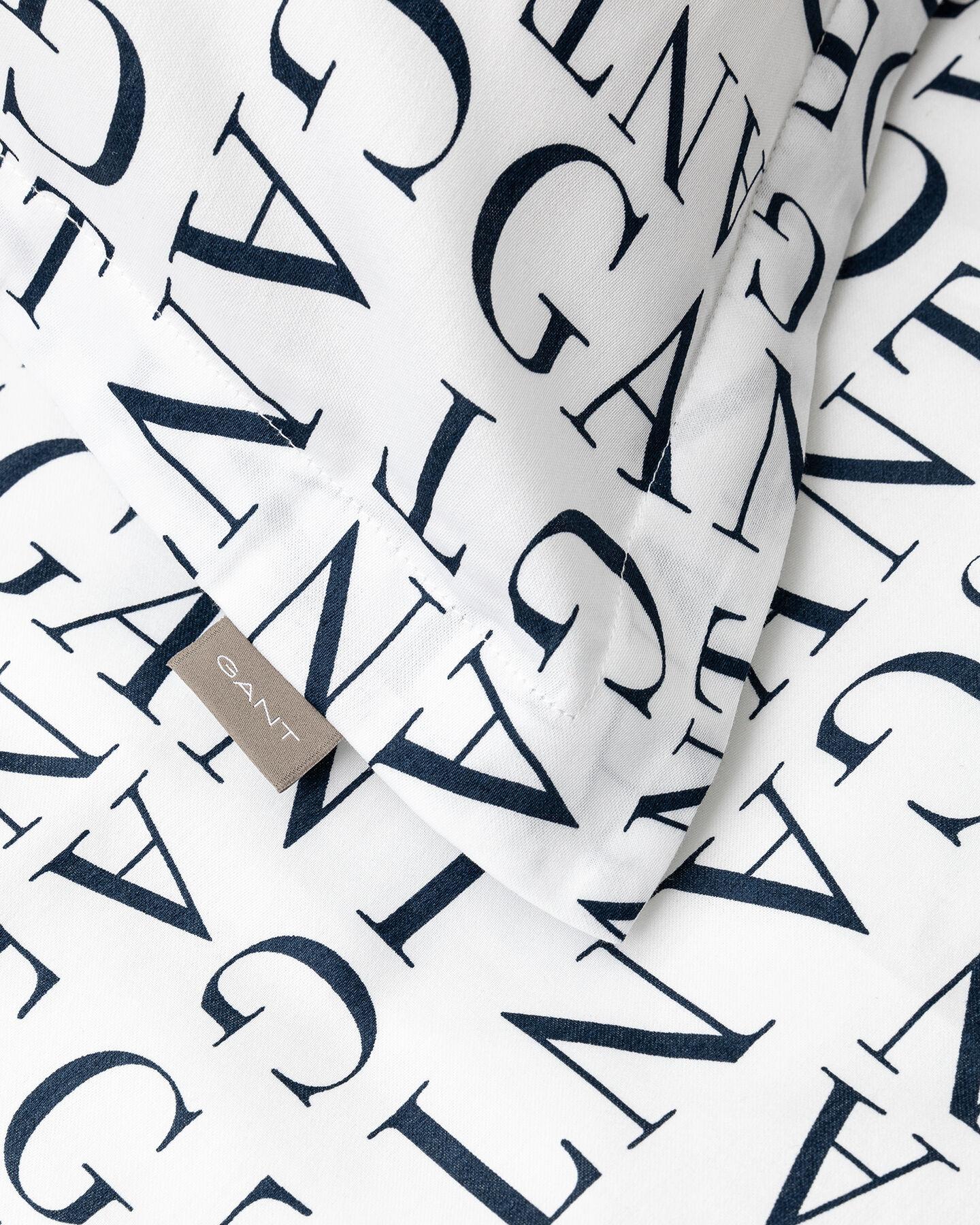 Letter mönstrat påslakanset, dubbel