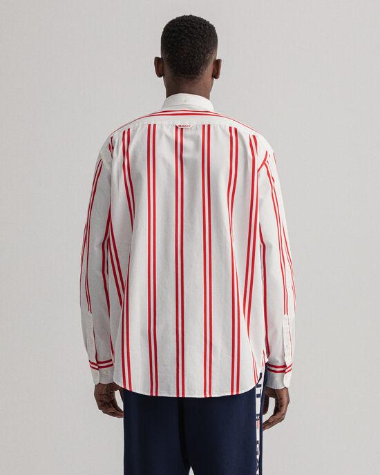 Relaxed fit Bold tryckt randig skjorta