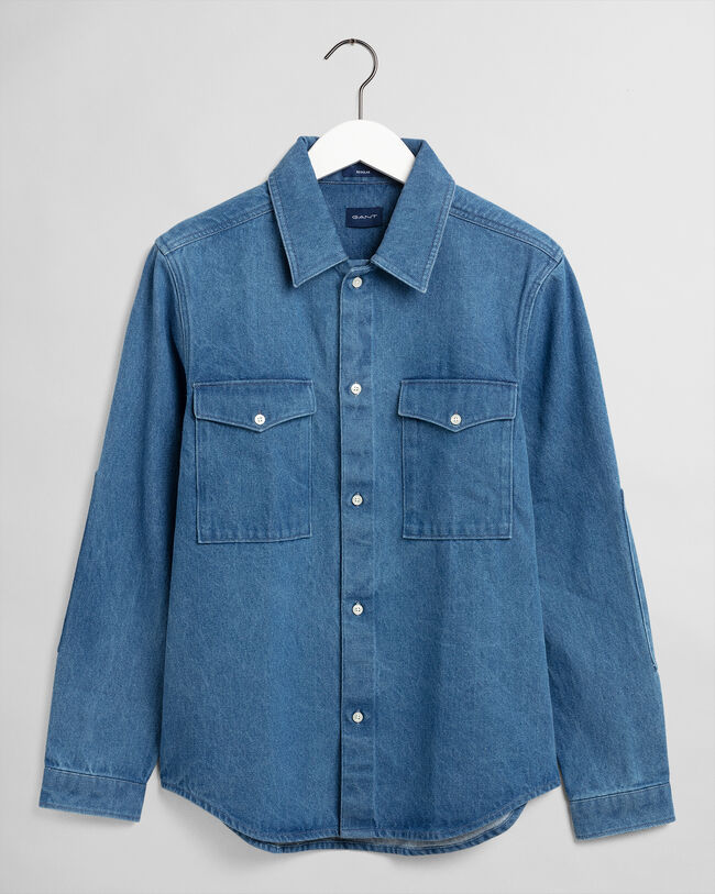 Regular fit denimskjorta