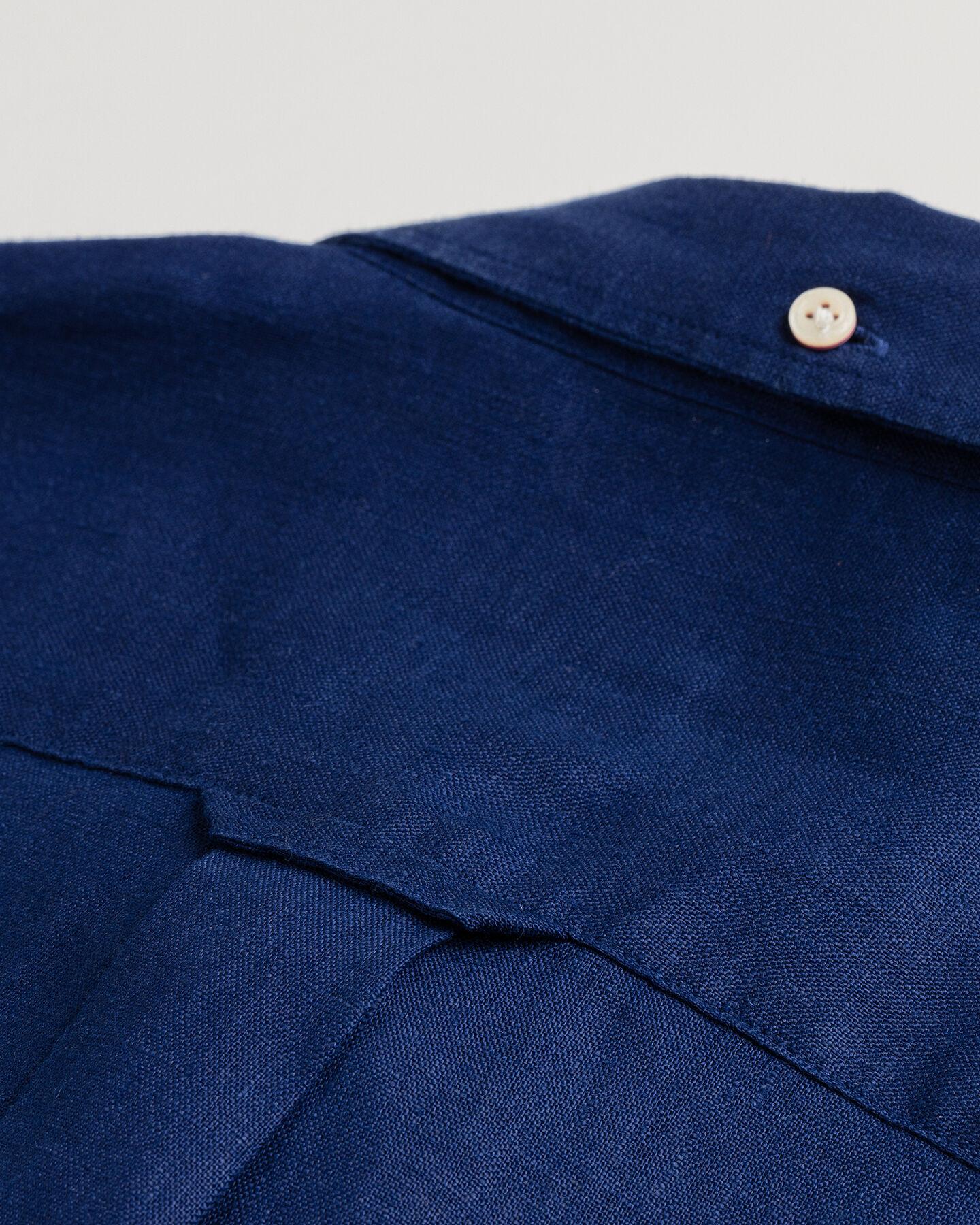 Regular Fit Kortärmad linneskjorta