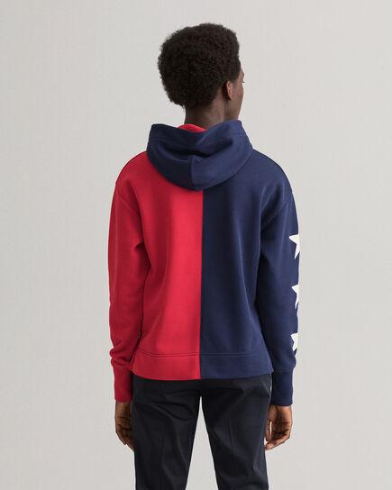 Retro Shield hoodie med halv dragkedja