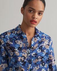 Liberation Bouquet mönstrad skjorta i bomull och silke