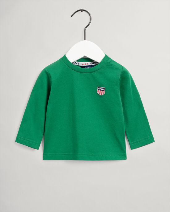 Baby Boy Retro Shield långärmad T-shirt