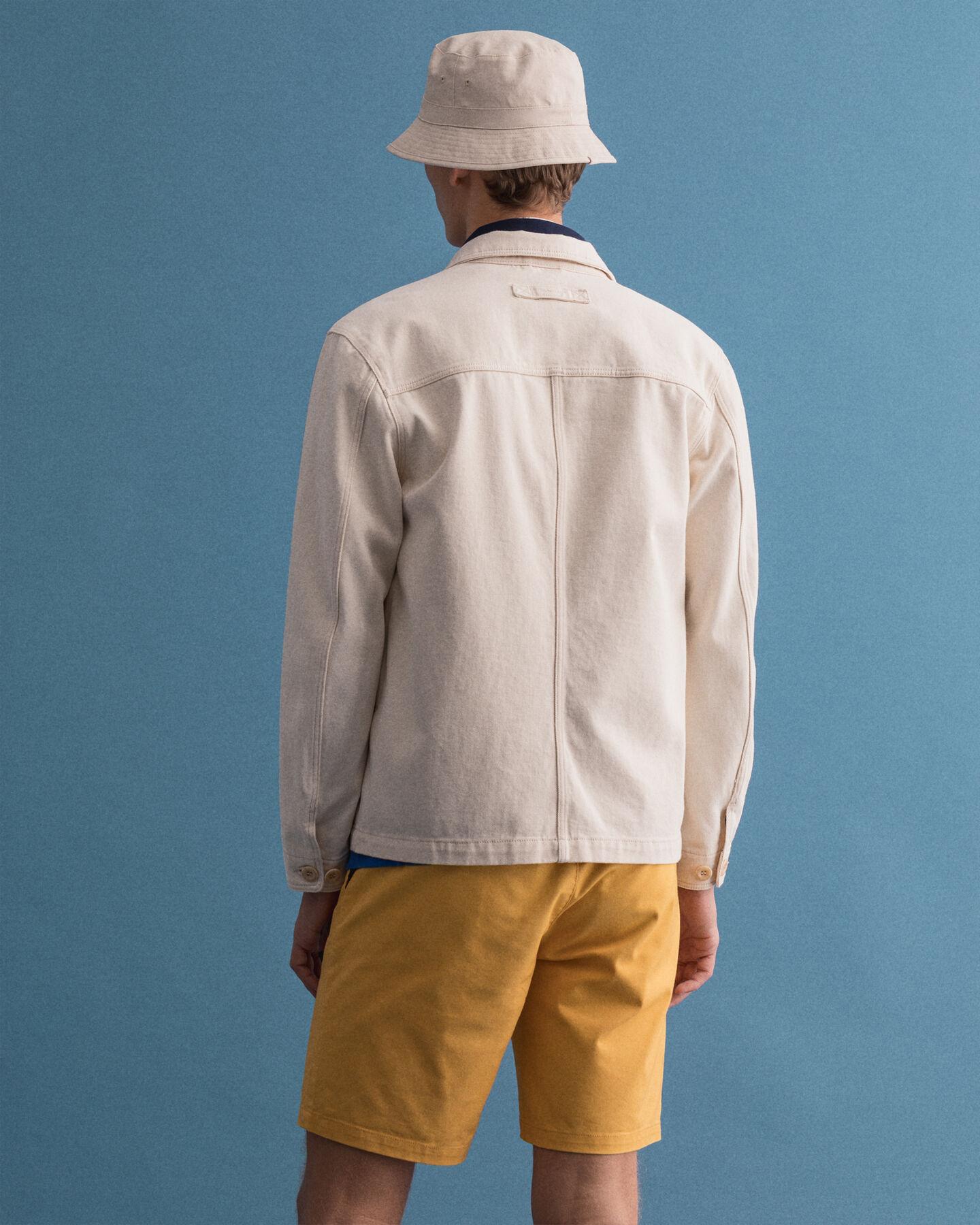 Skjortjacka i ekologisk bomullstwill