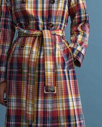 Oversized rutig trenchcoat