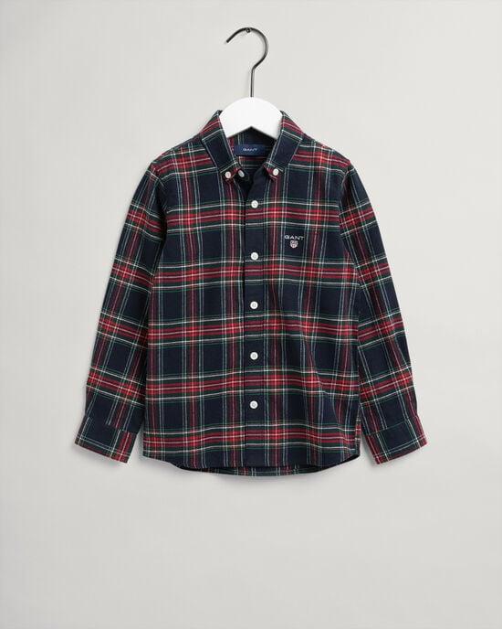 Boys skotskrutig flanellskjorta