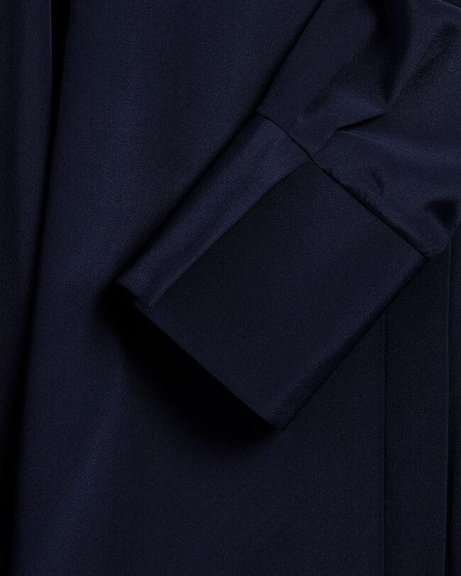 Silkesskjorta i crêpe de chine