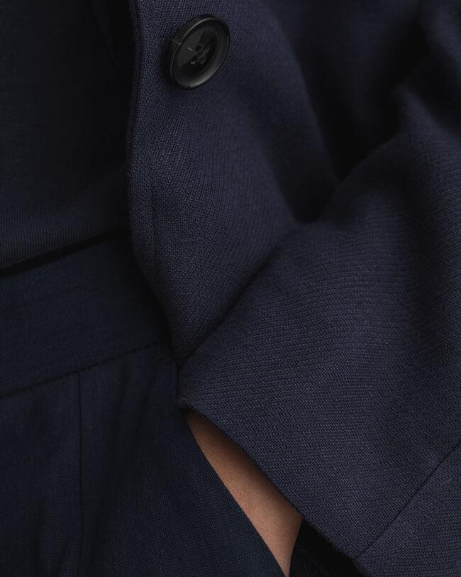 Fluid kappa i linneblandning med bälte