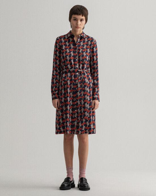 Pure Prep Knot mönstrad skjortklänning