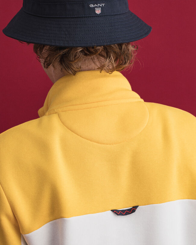 Nautical sweatshirt med halv dragkedja