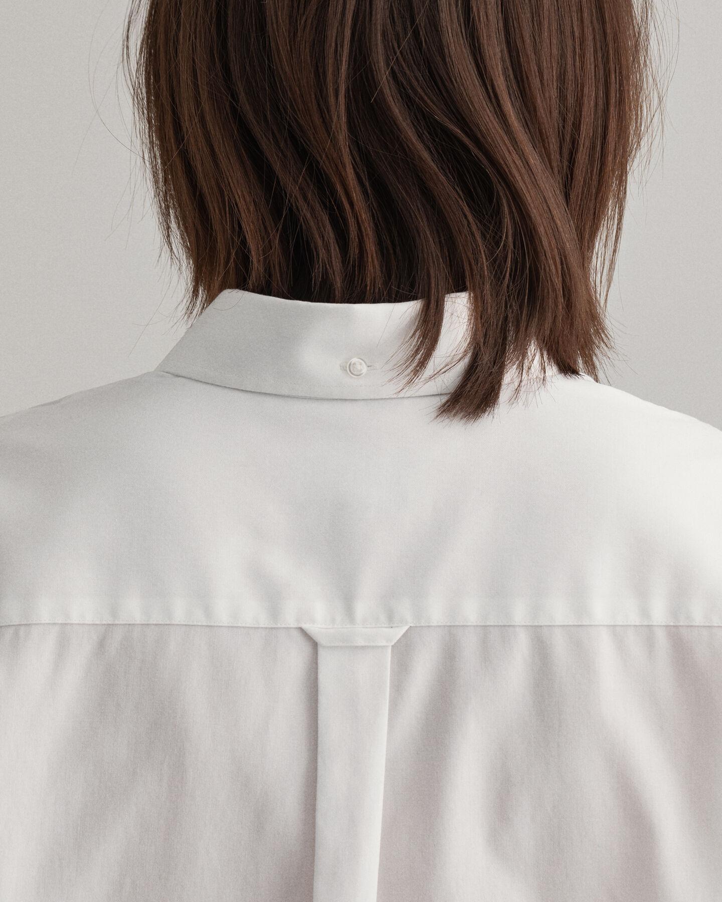 Relaxed fit pinpointvävd oxfordskjorta