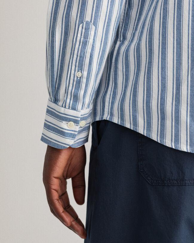 Coloration Project regular fit randig skjorta