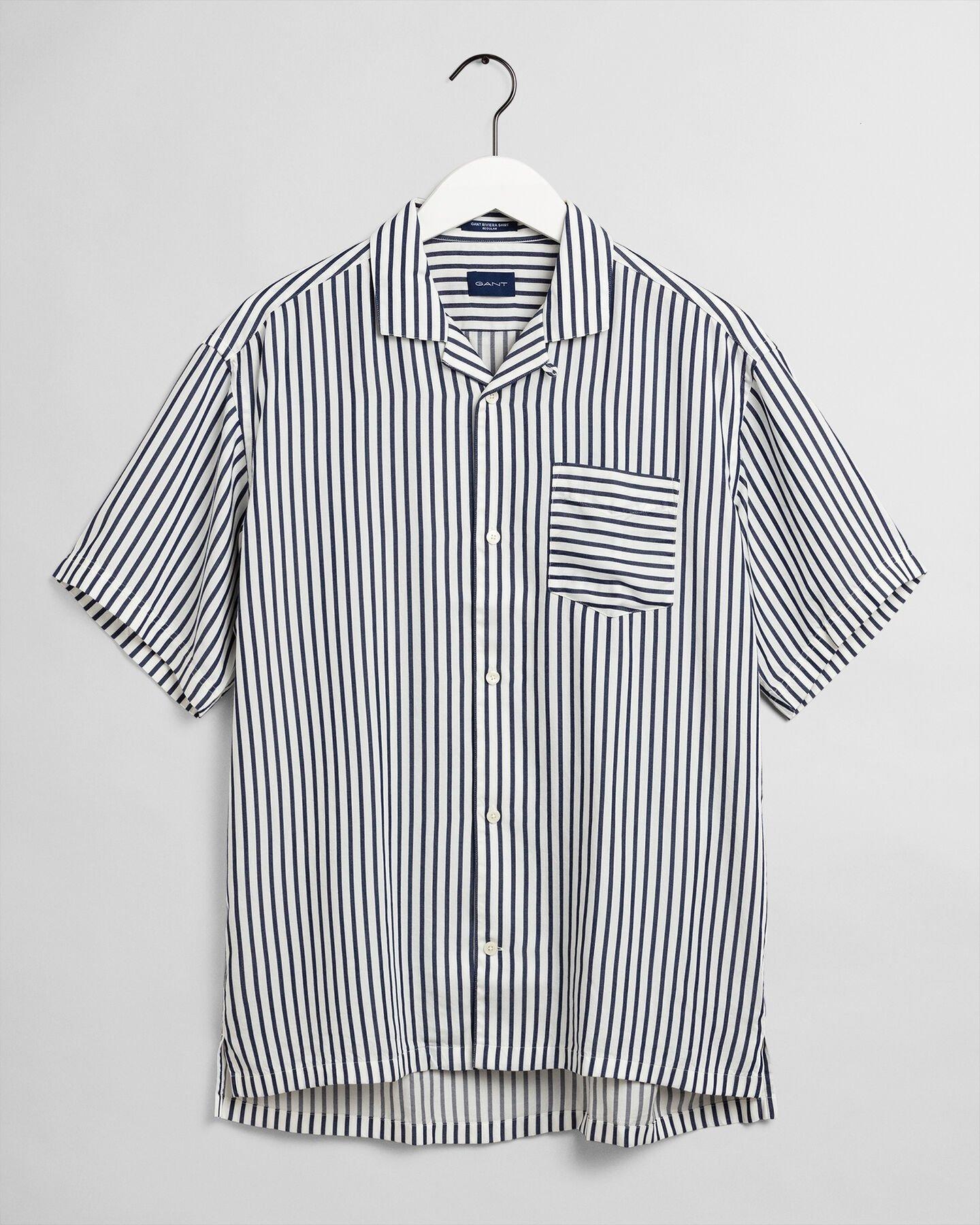 Relaxed fit randig skjorta