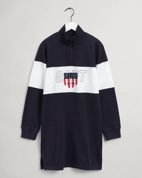 Teen Girls Sporty Shield klänning med halv dragkedja