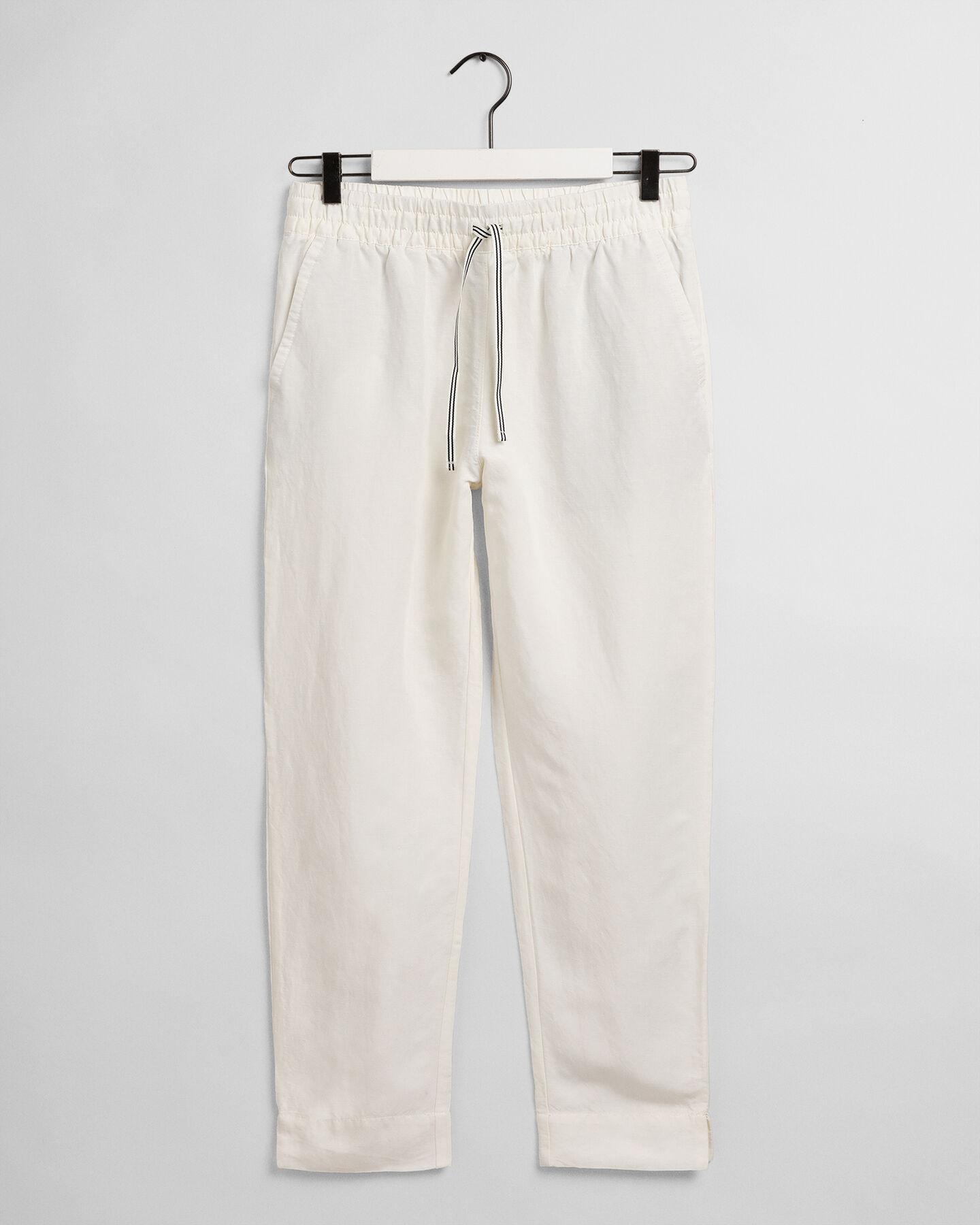 Dra på-byxor i linne