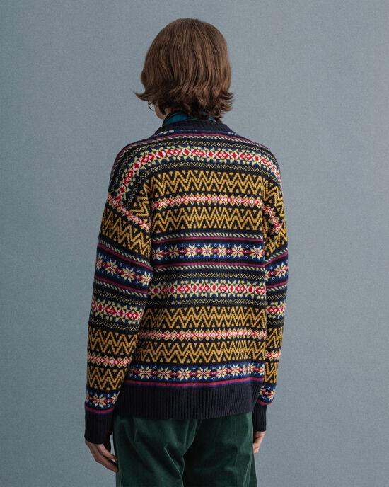 Fair Isle-tröja med rund halsringning