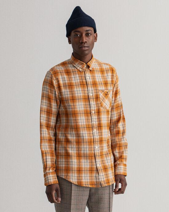 Regular fit Windblown flanellskjorta