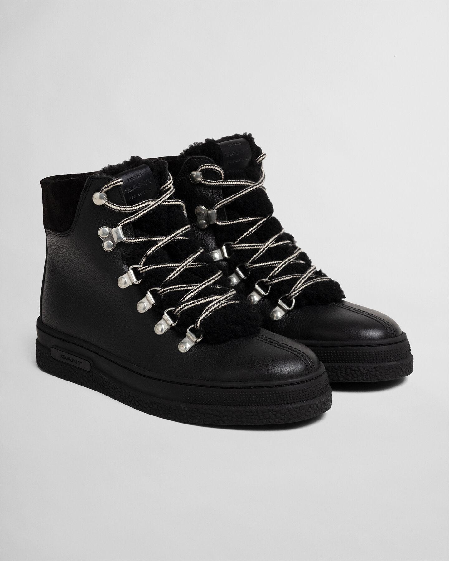 Breonna mellanhöga boots med snörning
