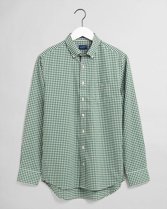 Regular fit ginghamvävd poplinskjorta
