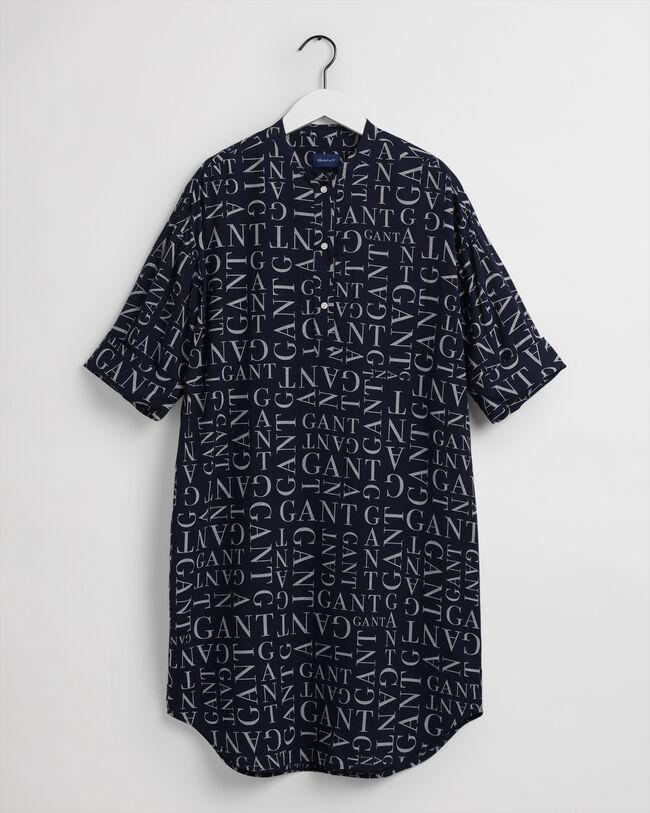Typography mönstrad tunika