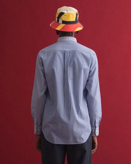Regular fit skjorta med blandade paneler
