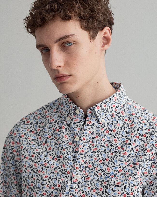 Slim fit Leaf mönstrad skjorta